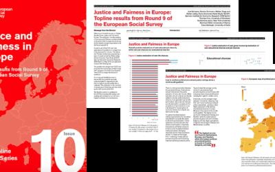 Nytt nummer av ESS Topline Results Series belyser ämnet rättvisa i samhället